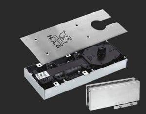 Доводчики для стеклянных маятниковых дверей