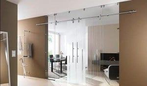 Выдвижные стеклянные двери
