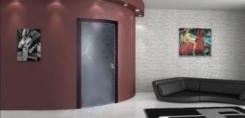 Дизайн современных межкомнатных дверей из цельного стекла