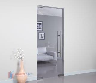 Одностворчатые межкомнатные стеклянные маятниковые двери