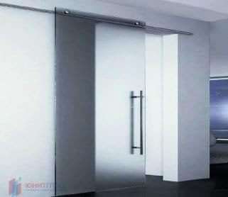 Одностворчатые раздвижные стеклянные двери для офиса