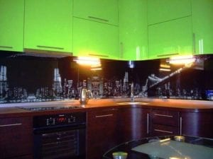 Скинали (фартук) на кухню с фотопечатью