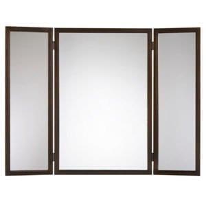 Трехстворчатое настенное зеркало