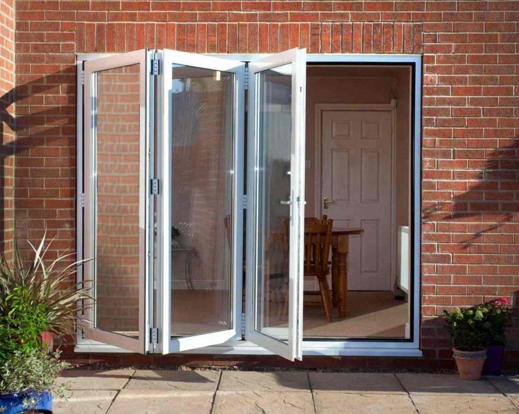 алюминиевая стеклянная дверь