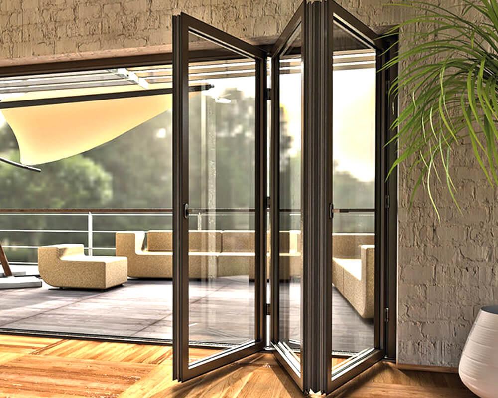 стеклянная дверь гармошка