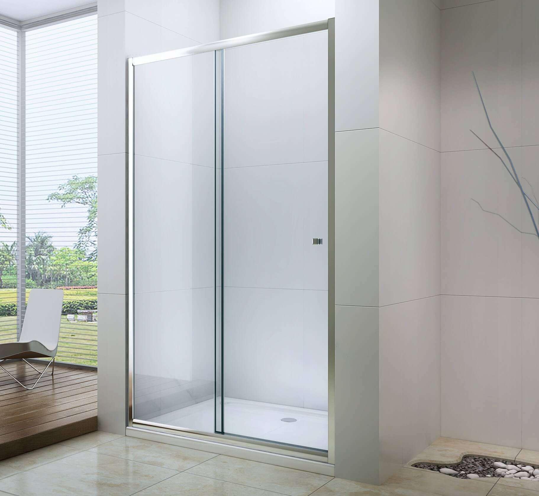 Душевые двери с матовым стеклом