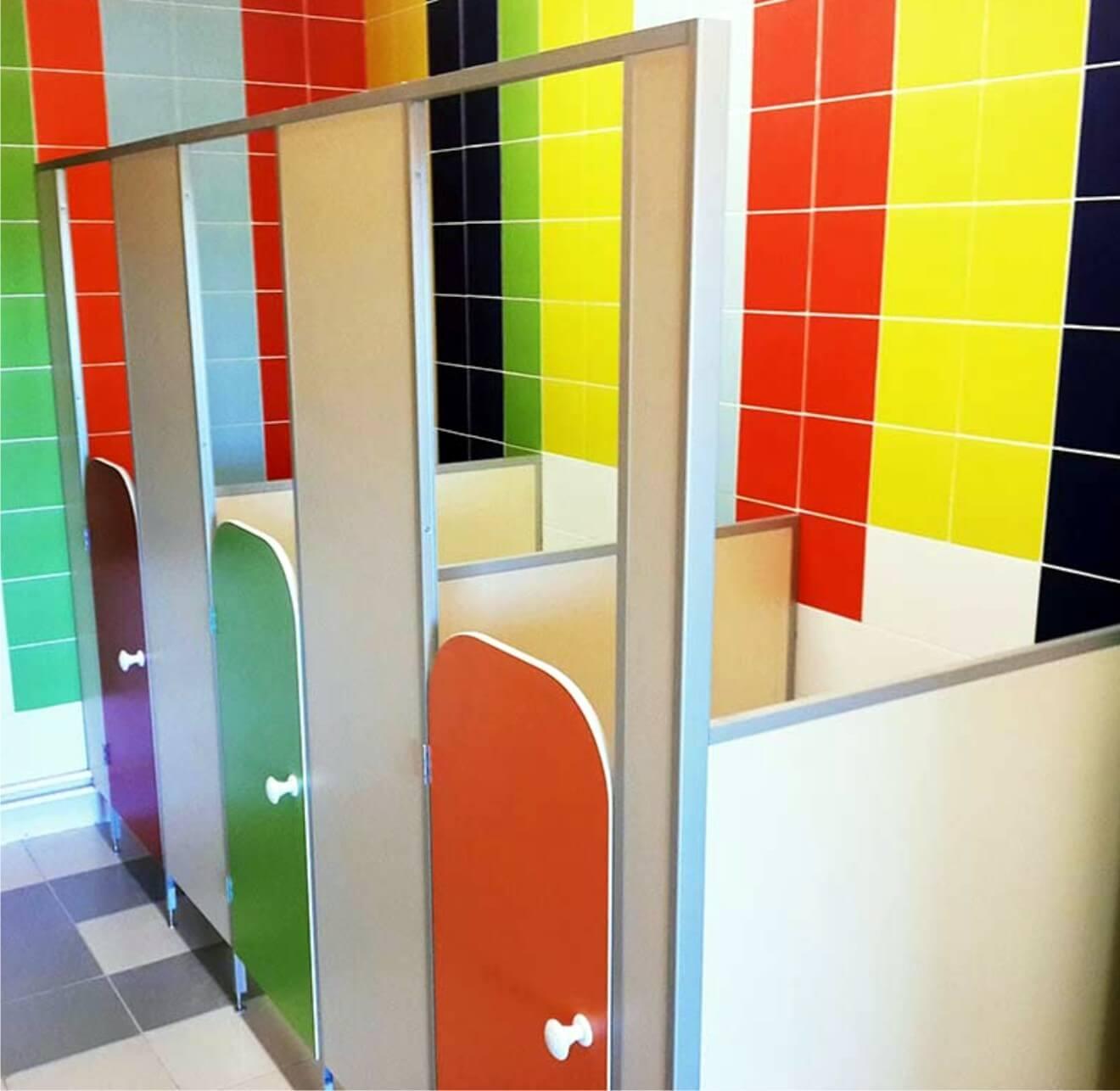 Перегородки сантехнические для детских садов