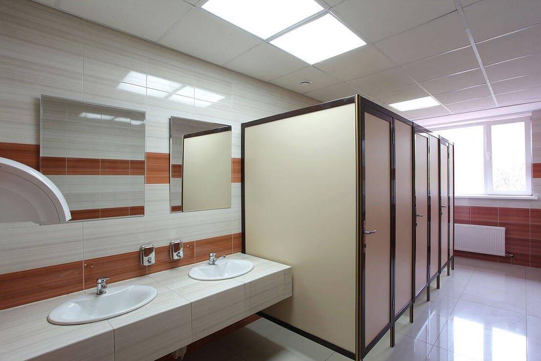 Виды сантехнических перегородок