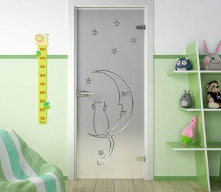 Стеклянные двери для детской комнаты