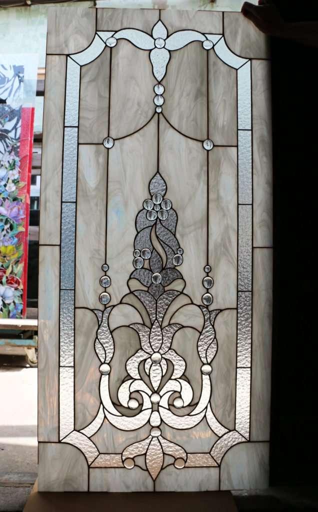 витражи для стеклянных дверей Тиффани