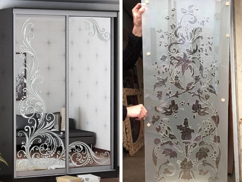 Пескоструйная обработка стекла и зеркал на заказ