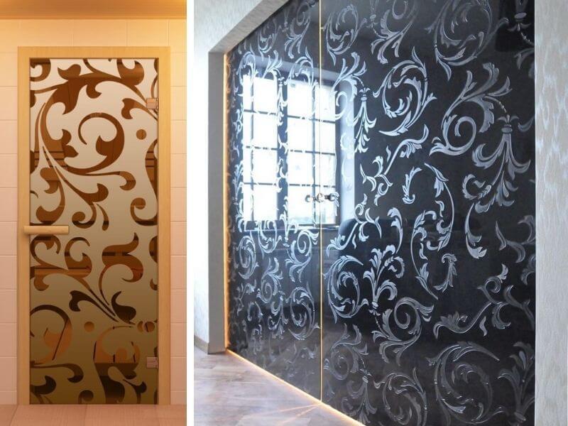 Двери с гравировкой выполненные на заказ