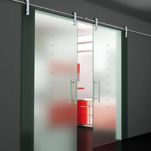 Раздвижные двери из стела матовые купить в Москве