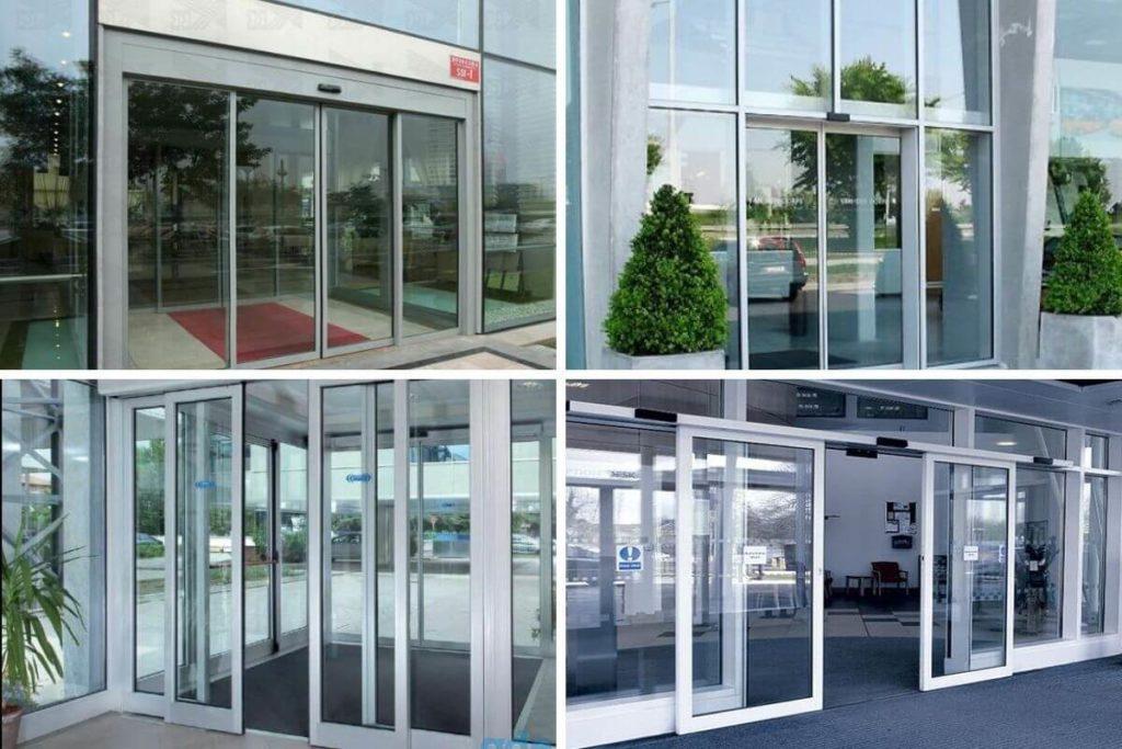 Раздвижные входные двери из стекла для тц, офиса, магазина купить в Москве